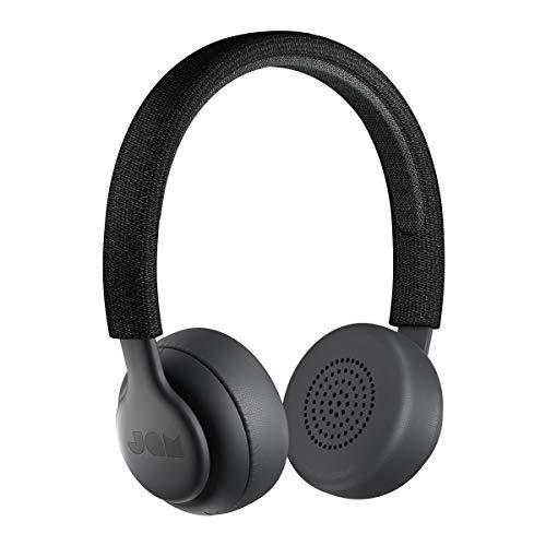 Jam Been There, Cuffie On-Ear Bluetooth, Driver da 40 Mm, 14 Ore di Riproduzione, 10 Metri di Raggio, Impermeabile IPX4, Nero