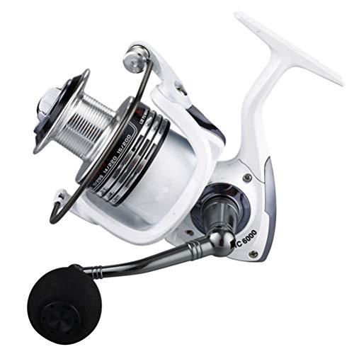 AimdonR Angelrolle,Spinning Angelrolle 6 + 1BB 5,2: 1 Ultra Smooth Powerful Spinnrollen für das Beckenfischen im Süßwasser-Salzwasser, Serie HC1000-7000 mit austauschbarem Griff