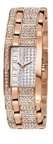 Esprit Damen-Armbanduhr Bling Bling Houston Analog Quarz Edelstahl beschichtet ES000EW2007
