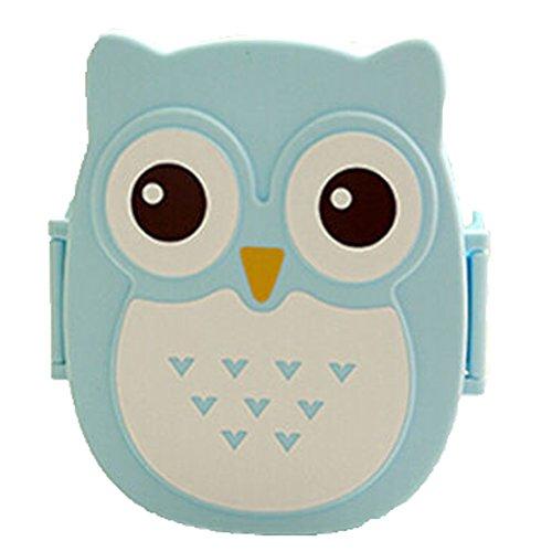donalworld enfants Cartoon Owl Boîte Bento Lunch Box Boîte alimentaire boîte de rangement portable Multicolore Pattern3 m