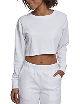 Urban Classics Ladies Terry Cropped Crew, Jersey para Mujer
