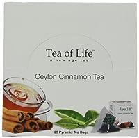 Tea of Life Ceylon Tea, Black Cinnamon, 25 Count