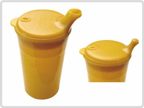 Trinkbecher-Set Tee und Brei, kurzes Mundstück, orange