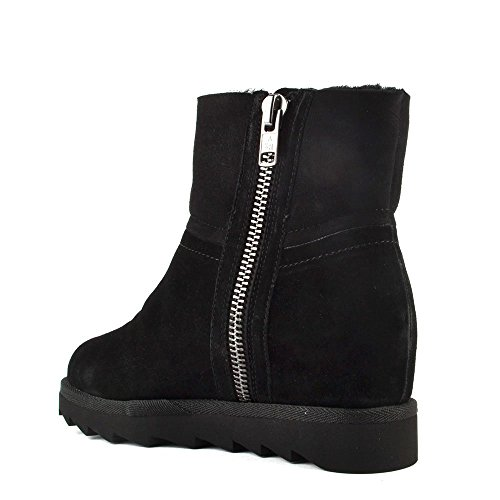 Ash Yang Boots en Daim, Femme Noir