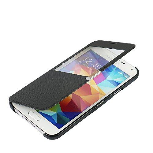 MTRONX para Funda Samsung Galaxy S5, Cover Carcasa Case Caso Ventana Vista Ultra...