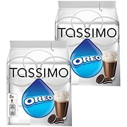 Tassimo Oreo Chocolat, Chocolat Chaud, Boisson Goût Biscuit, Lot de 2, 32 T-Discs (16 Portions)