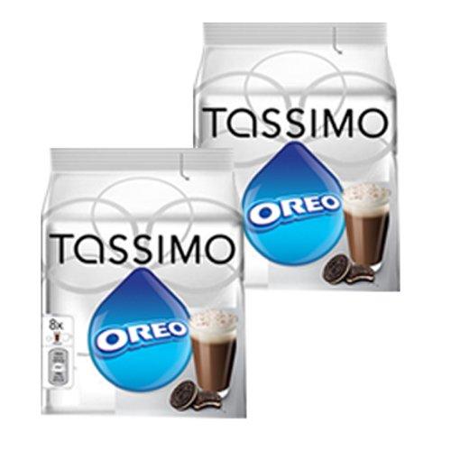Tassimo Oreo Cacao, Cioccolata Calda, al Gusto di Biscotto, 2 x 16 T-Discs