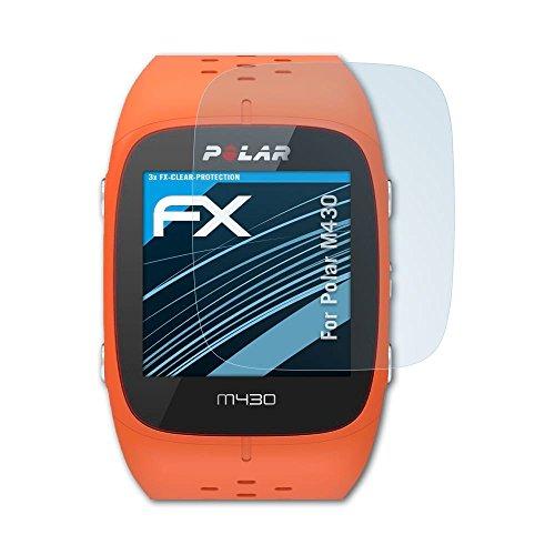 atFoliX Schutzfolie kompatibel mit Polar M430 Folie, ultraklare FX Bildschirmschutzfolie (3X)