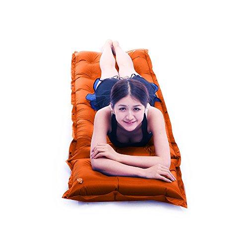 Selbst aufblasende Camping Matratze Sleeping Pad Karte Memory Schaumstoff Bett Dick 3 cm mit Kissen für Camping, Zelten, Scouts, Wandern |chanodug, Orange