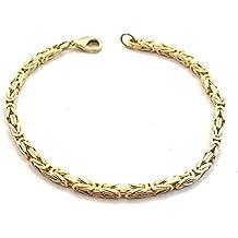 Königsarmband Gold Double, 3 mm quadratisch, Länge wählbar, Goldarmband Herren-Armband Damen Geschenk Schmuck ab Fabrik Italien tendenze
