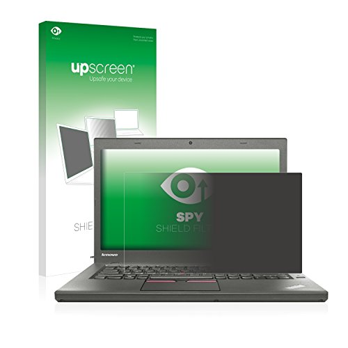 upscreen Blickschutzfilter kompatibel mit Lenovo ThinkPad T450 Non-Touch Privacy Filter Sichtschutz - Anti-Spy, Privacy Screen - Thinkpad T450