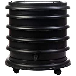 WormBox : Lombricomposteur 3 Plateaux Noir - 48 litres - Fabriqué en France
