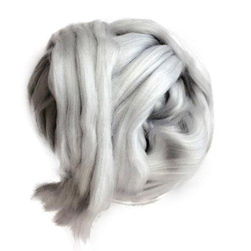 Jaminy Wolle Garn Super Soft Bulky Arm Stricken Wolle Roving Häkeln DIY (B) (Seide Unterwäsche Stricken)