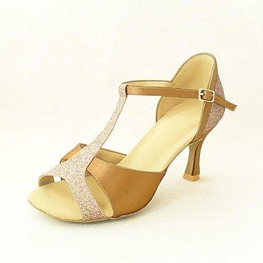 KLM sandali delle donne personalizzabili latini raso scarpe da ballo (altri colori) , Yellow , US7.5 / EU38 / UK5.5 / CN38