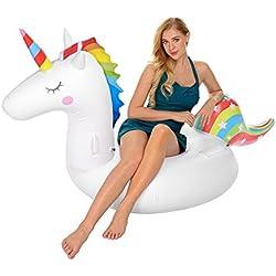 Ynredee Flotadores de Piscina, flotadores de Piscina de Unicornio inflables para Adultos y niños, flotadores de Piscina de salón de Playa de Vacaciones en Exteriores e Interiores, Atrás Puede Variar