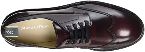 Marc O'Polo Damen Lace Up Shoe 70814263401112 Brogues Rot (Bordo)