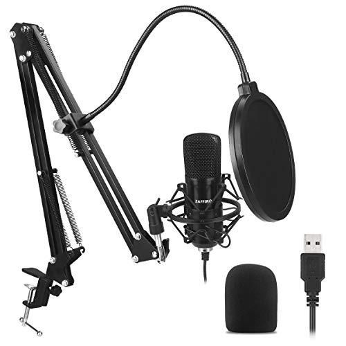 ZAFFIRO Estudio Micrófono Condensador Kit micrófono