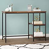JGS Iron Frame Solid Wood Study Table for Students Office Desk Computer Table for Living Room