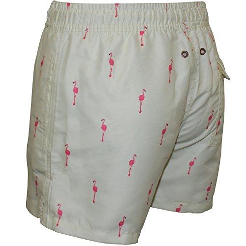 Pantaloncini Da Bagno Nikben Flamingo Maschile, Limone Giallo/limone
