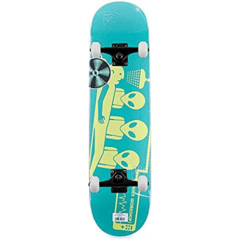 Alien Workshop Skateboard Logo DAYGLO rapimento Skateboard completo verde (Alien Workshop Skateboard)