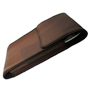 i-KitPit Genuine Leather Pouch With Magnet Case For Micromax Canvas Fun A76 (Brown)