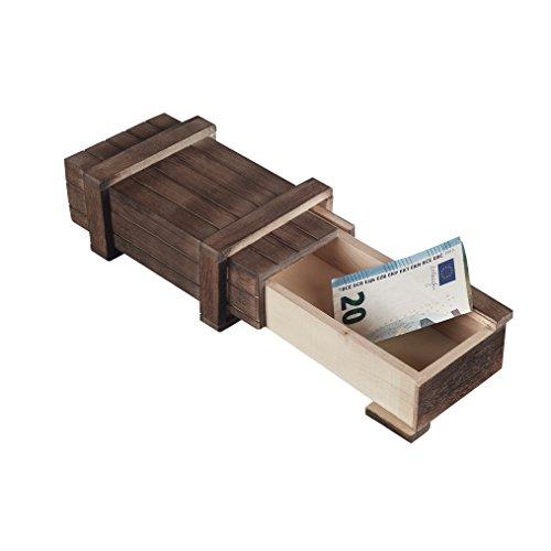 Zauberhafte Holzgeschenkbox - zum kreativen Verschenken von Gutscheinen, Schmuck und Geld (groß 15 x 8 x 5 cm)