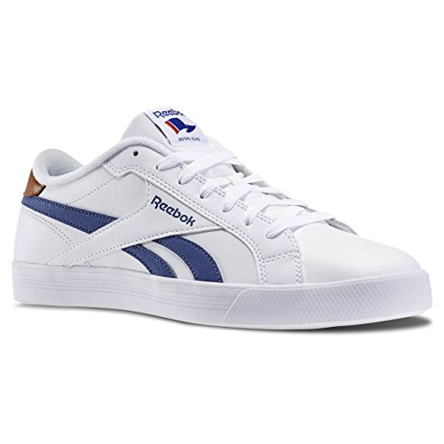 Reebok Royal Complete Low, Chaussures de Tennis Homme Blanco / Azul / Marrón (White/Midnight Blue/Brown Malt)