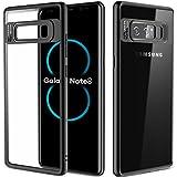 Samsung Galaxy Note 8 Hülle, ROCK Crystal Hybride Transparent Schutzhülle Kratzfest Handyhülle Case/Cover Bumper für Samsung Galaxy Note 8 - schwarz