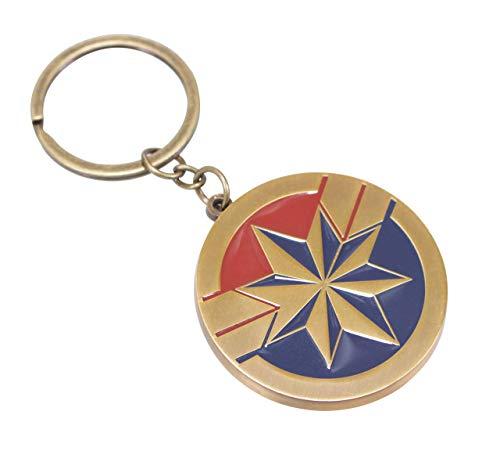 Marvel Keychain-Schlüsselanhänger Capitan, goldfarben, Blau und Rot, 6 cm, Farbe (KEYMV10) (Marvel Superhelden Weibliche)