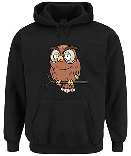 c Owl Hooded-Sweater Black M ()