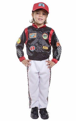 Dress up America Race Car Driver Costume Set (S) by Dress Up America (Race Car Driver Kostüm Kind)