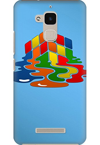 Amez designer printed 3d premium high quality back case cover for Asus Zenfone Pegasus 3 X008 (Rubiks cube puzzle)  available at amazon for Rs.249