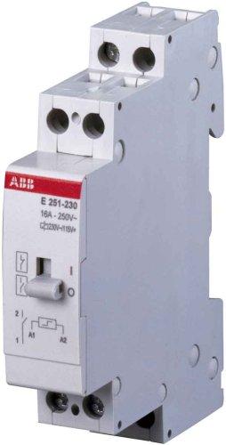 ABB Stotz S&J Stromstossschalter E 252-230VAC/115VDC 2S 230VAC/115VDC System pro M compact Stromstoßschalter 8012542530800 -