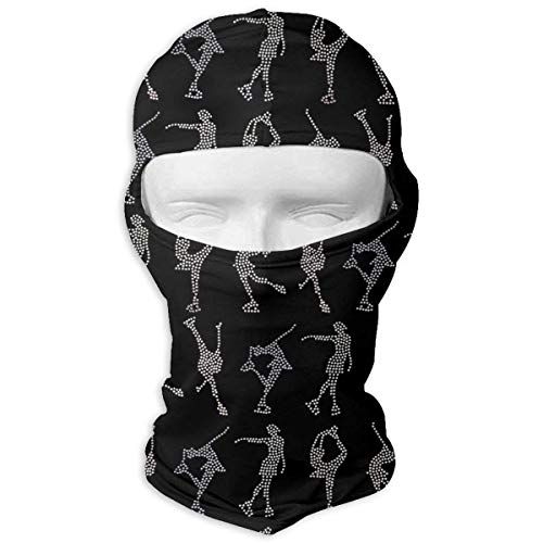Preisvergleich Produktbild Xukmefat Ice Skating I Love Figure Skating Balaclava UV Protection Windproof Ski Face Masks for Cycling Outdoor Sports Full Face Mask Breathable