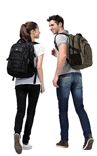 SEAGULL Black Laptop Backpack for up to 17.3 inch laptops/1680D High Quality Fabric/Hold up to 30KG/Foam Shock Resistant Laptop Compartment//100% Money Back Guarantee/48*33*22cm All Black