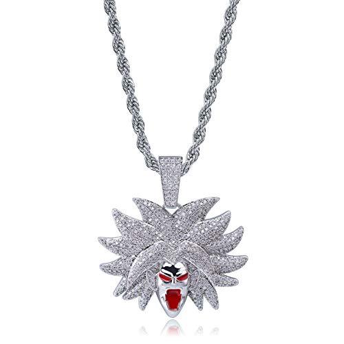 YinXX Dragon Ball Halskette, Broli Cartoon Hohe Qualität Zirkon 18 Karat Gold Anhänger Halskette, Mode Accessoires Männer und Frauen Allzweck ()