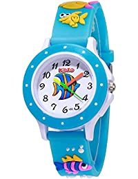 Kidzo Something Fishy Sky Blue Kids Analog Wrist Watch with 3D Strap