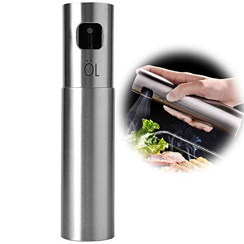 US-DXB Oil Olive Sprayer Mister, Mehrweg-Barflaschen aus Edelstahl zum Kochen, Anrichten von Salatöl, Grillen, Grillen und Braten -
