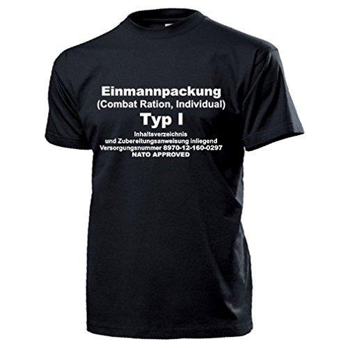 EPA Einmannpackung TYP1 Bundeswehr Notration Essen Verpflegung BW Humor Fun Spaß Combat Ration Kekse Panzerplatten - T Shirt Herren XL #17234