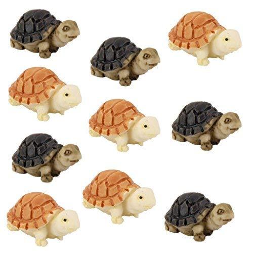 Zeagro 10 Miniatur-Puppenhaus, Bonsai, Fee, Garten, Landschaft, Schildkröte Dekor (Schildkröte Garten Dekor)