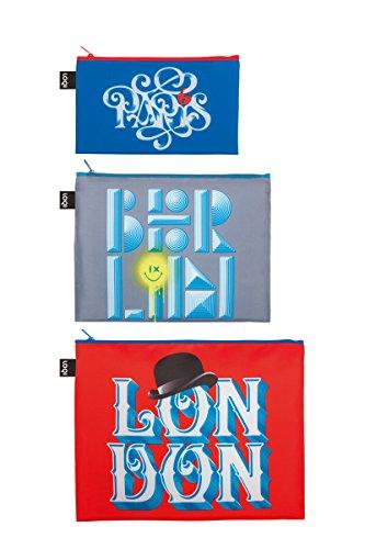 LOQI ALEX TROCHUT Paris - Berlin - London Zip Pockets - Pochette à fermeture éclair