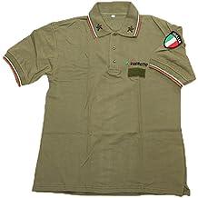 Polo maglietta uomo esercito italiano estiva cotone softair militare army italia