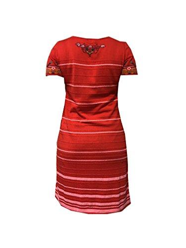 Gestreiftes Baumwollkleid von Ivko in Rot Rot