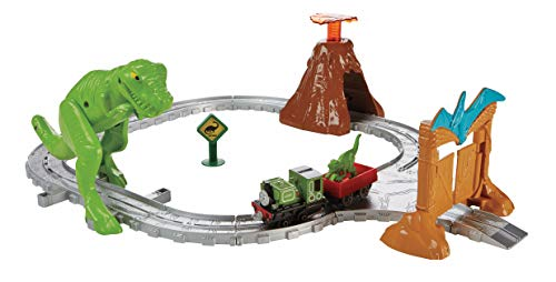 Thomas & Friends FBC67 Dino Discovery Set, Thomas the Tank Engine Toy Train Set, Adventures Toy Train, 3 Year Old