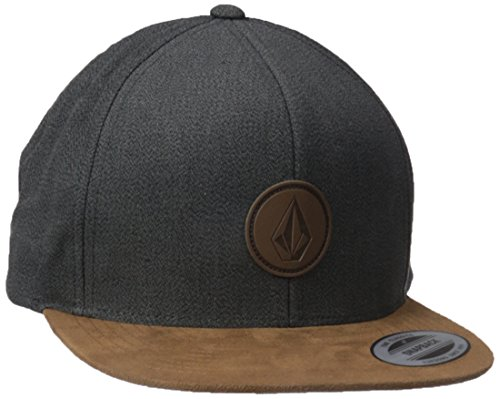 volcom-quarter-fabric-cap-baseballmutze-snapback-grau-schildmutze-mud-one-size