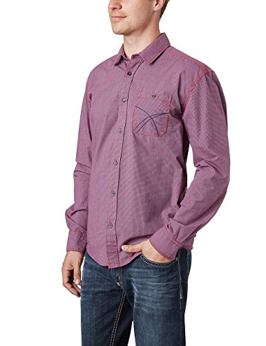 Pioneer Men Shirt, coupe droite Homme Rouge (true Red 805)