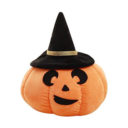 fourHeart Kreative Niedliche Kürbis-Kissen-Puppe, lustiges Emoji Gefülltes Plüsch-Kissen, Ideales Geschenk für Halloween-Dekor (Mond (Annabell Puppe Halloween Kostüm)