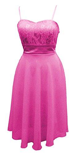 Süßes Chiffon Cocktailkleid (ak3387) Pink