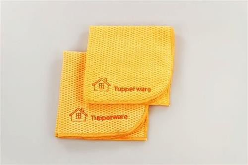 TUPPERWARE FaserPro Multi orange (2) Mikrofasertuch Allzweck abgerundet 17195