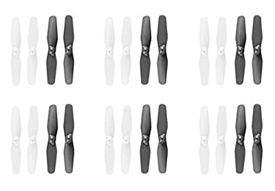 CreaTion® Syma X12 Nano Mini 2.4G 4CH 6-Axis RC Quadcopter Replacement Spare Parts Main Blade Rotor Propeller 6Sets (24pcs)